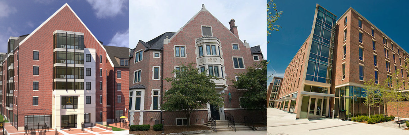 Honors College and Residences, Duhme Hall, and Third Street Suites