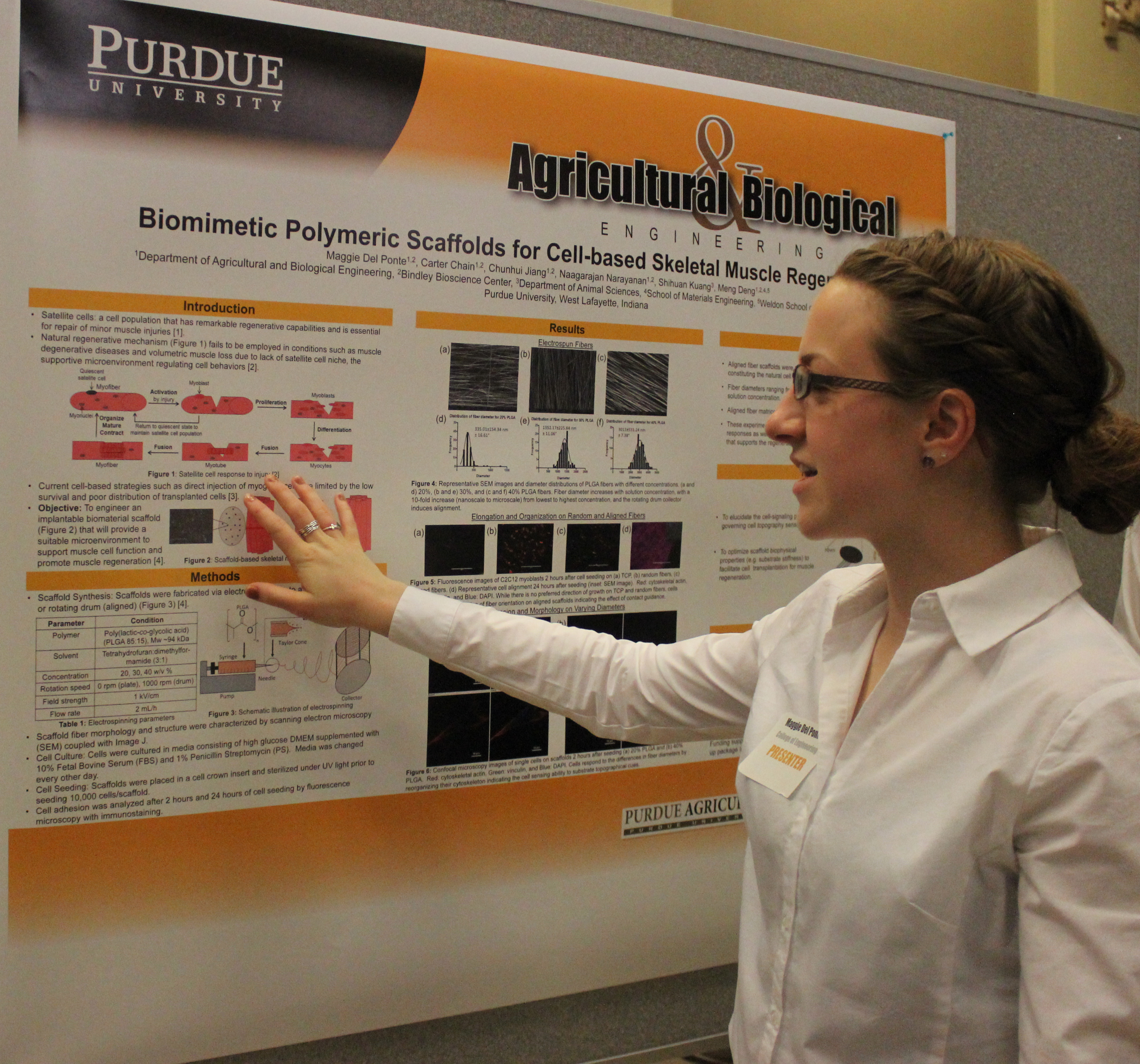 Maggie Del Ponte presenting her research poster